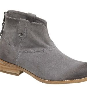 Johnston & Murphy Gray Suede Stephanie Bootie